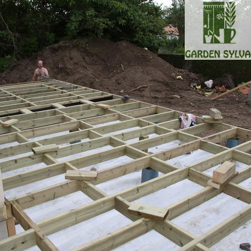 Garden Sylva - Aménagement extérieur - Plancher en bois